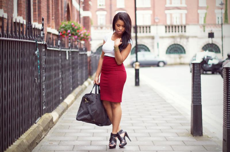 0fe62ce1fd Wine Pencil Skirt. – Shirley's Wardrobe | Fashion, Beauty ...