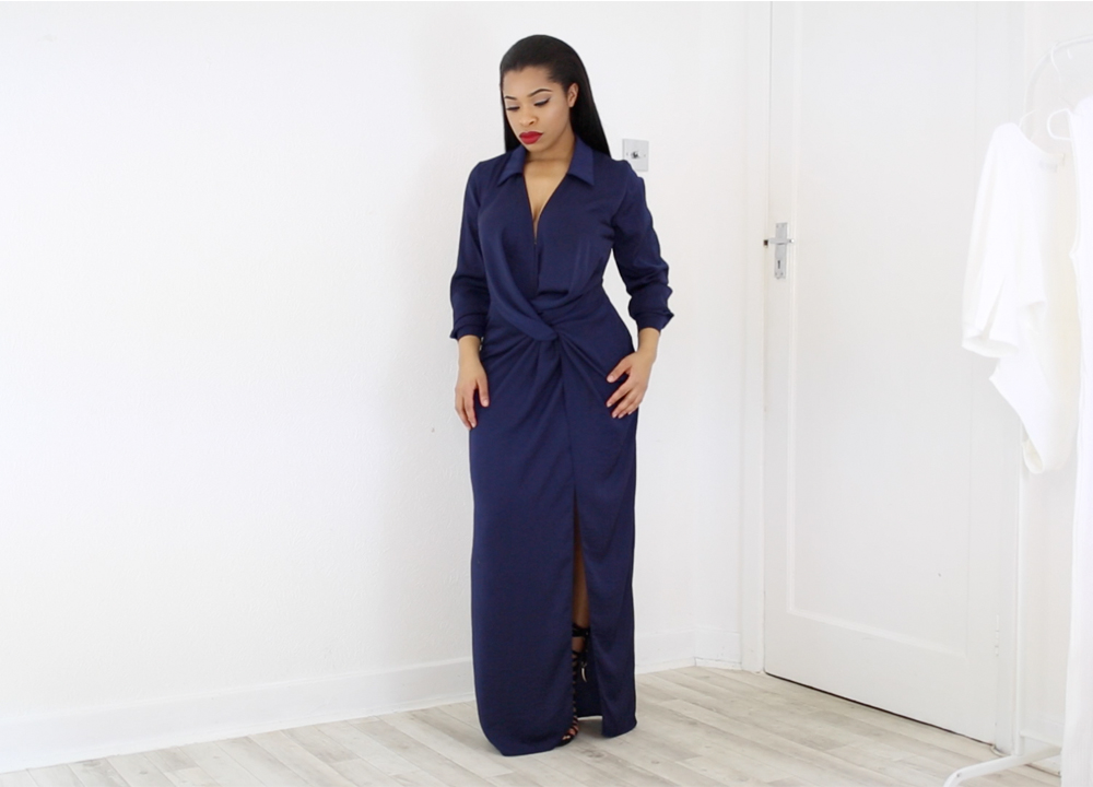 Missguided Navy Dress